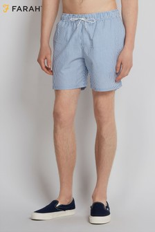 Farah Royal Blue Colbert Seersucker Swim Short