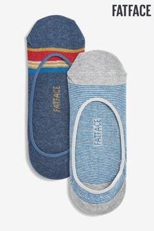 Modré pásikavé ponožky FatFace Footsies, 2 páry