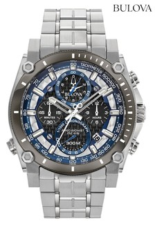 Bulova Precisionist Black/Blue Chrono Date Watch