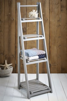 Painted Ladder Shelf