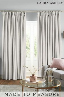 Laura Ashley Swanson Dove Grey Made to Measure Curtains