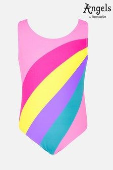 Angels By Accessorize Red Rainbow Stripe Swimsuit