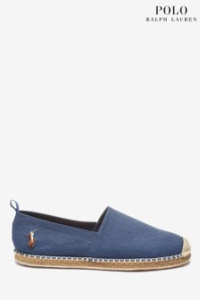 Ralph Lauren Blue Canvas Espadrille