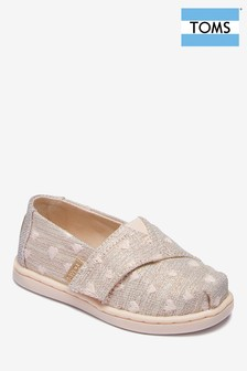 TOMS Pink Metallic Spot Slip-On