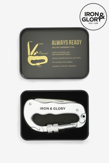 Iron & Glory 4-In-1 Carabiner Multi Tool With Flashlight