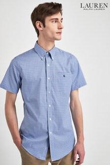 Lauren Ralph Lauren Navy Check Short Sleeve Shirt
