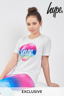 Hype. White Circle Rainbow Tee