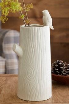 אגרטל קרמי בצורת גזע עץ