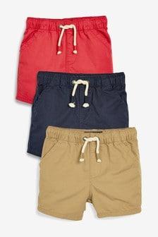 מארז שלישיית מכנסיים קצרים עם מותן גומי (3 חודשים-7 שנים)