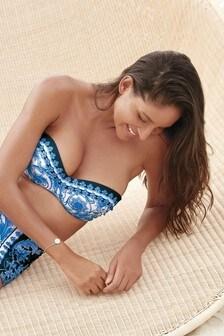 Top bikini a fascia