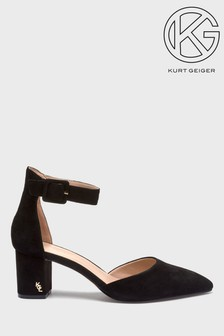 Kurt Geiger London Black Suede Burlington Heel