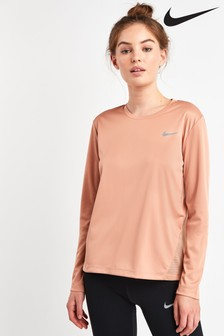 Nike Miler Long Sleeved Running Top
