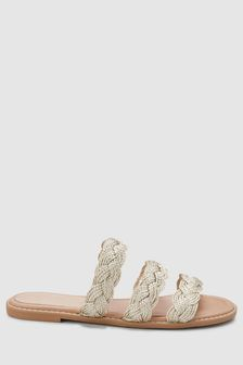 Three Band Plait Mules