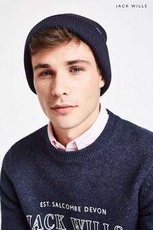 Jack Wills Blue Consland Rib Beanie