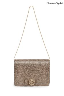 Phase Eight Metallic Jaden Metallic Clutch