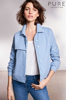 Pure Collection Blue Collared Twill Jacket