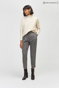 Warehouse Grey Textured Peg Trouser