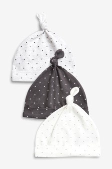 Mini Stars Tie Top Hats Three Pack (0-12mths)