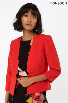 Monsoon Ladies Red Nola Jacket