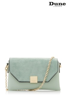 Dune Accessories Green Jewelled Chain Handle Evening Bag