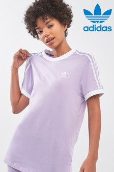 adidas Originals Purple 3 Stripe Tee
