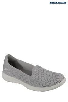Skechers® Grey Gow Walk Lite Daisy Shoe