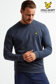 Lyle & Scott Sport Navy Midlayer Crew Sweater