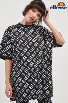 Ellesse™ Heritage Annah Gemustertes T-Shirt, schwarz