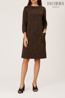 Hobbs Black Rosalyn Dress