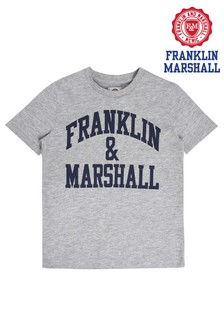 Franklin & Marshall Grey Logo Tee