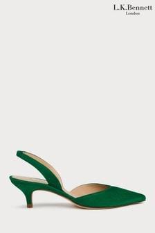 L.K.Bennett Green Larissa Court Shoe