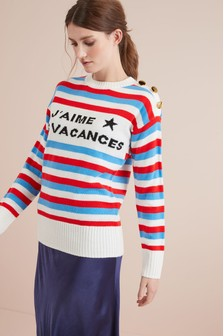 Stripe Logo Jumper