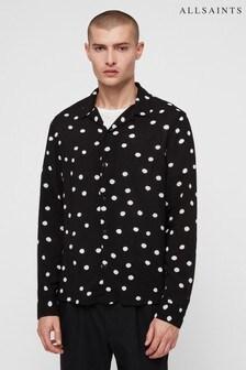 All Saints Black Polka Dot Shirt