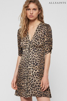 AllSaints Leopard Print Kota Dress