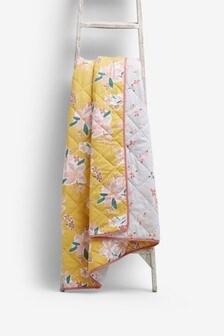 Ochre Floral Bedspread