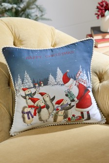 Santa And Friends Christmas Cushion