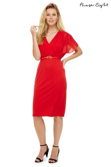 Phase Eight Tangerine Alba Wrap Dress