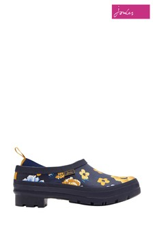 Joules Navy Botanical Slip-On Welly Clog
