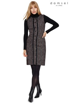 Damsel In A Dress Black Amara Tweed Dress