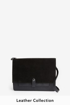 Leather Utility Detail Shoulder Bag
