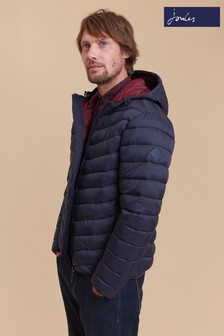 Joules Blue Hooded Padded Jacket