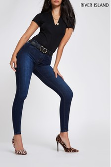 River Island Mid Blue Molly Mid Rise Jeans