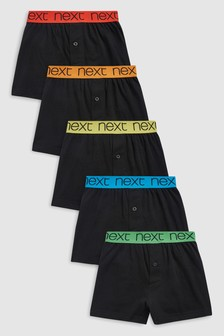 Loose Fit Trunks Five Pack (2-16yrs)