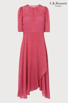 L.K.Bennett Gainsbury Block Print Dress