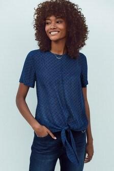 Рубашка на завязках спереди