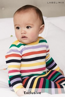 Mix/Madeleine Thompson Cotton Rainbow Knitted Romper