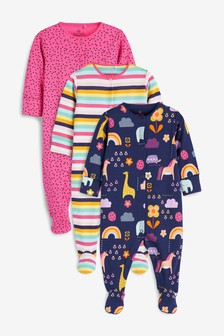 3 Pack Character Sleepsuits (0mths-2yrs)