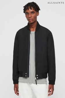 AllSaints Black Farrier Bomber Jacket