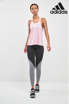 adidas Black/Grey Alpha Skin Colourblock Tight Leggings
