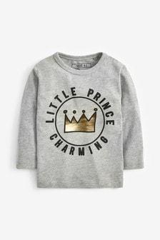 Long Sleeve Prince Charming T-Shirt (3mths-6yrs)